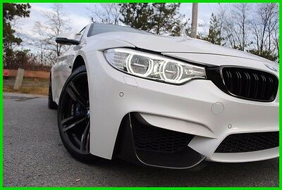 2015 BMW M4 M-4 M F82 6 Speed Manual Stick Shift 16,923 Miles Mineral White Sakhir Leather Carbon Roof LED HK Navigation Rebuilt Not Salvage