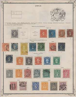B7940: 19th Century Chile Stamp Collection; CV $1590