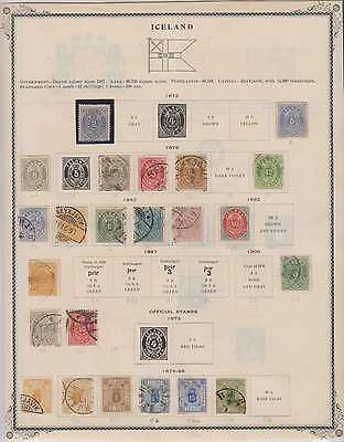 B7950: 19th C Iceland Stamp Collection; CV $3423