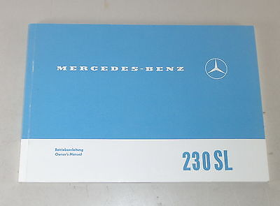 Betriebsanleitung / Owner's Manual Mercedes R113 Pagode 230 SL Stand 03/1992