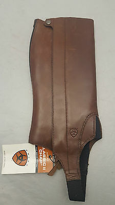 Ariat Classic chap II Kids Size Large Cordovan - Marked***