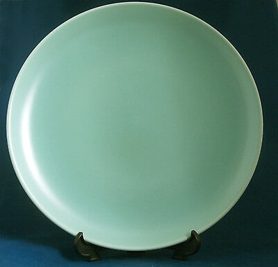 "Poole Pottery Twintone Seagull / Ice Green 9"" Supper / Dessert Plate x 2"