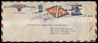 Masaya Nicaragua cover with bicycle issue to Chicago Illinois USA