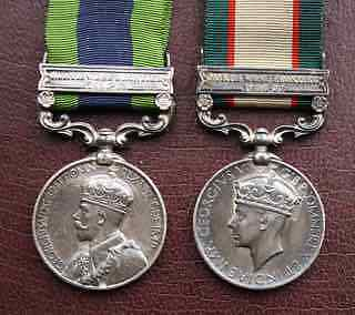 Silver India General Service Medal pair to CHM Bengal Sappers and Miners