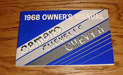 1968 Chevrolet Camaro Chevelle Chevy II Owners Operators Manual 68