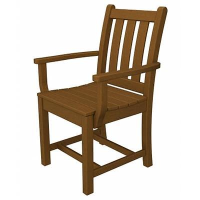 Poly Wood Tgd200te Traditional Garden Dining Arm Chair Teak
