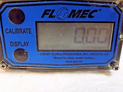GPI FloMec Electronic Digital Flowmeter and Totalizer 1 Inch Port SS G2S10N09GMA