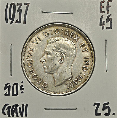 1937 Canada 50 cents EF-45