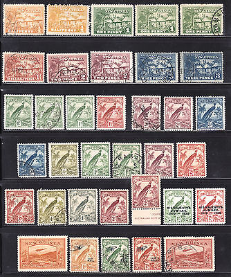 Early New Guinea Mint/used Stamp Lot/35, F-Vf, Mint Are Hinged