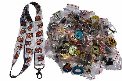 Disney World Pin Trading Lot Lanyard Starter Set Cars Tow Mater w/ 25 Pins