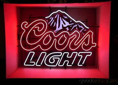 Large Coors Light Neon Beer Sign