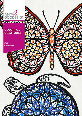 Anita Goodesign Embroidery Designs CD Colorful Creatures 307AGHD - NEW SEALED