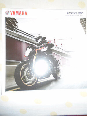 Yamaha FZ-Series motorcycle brochure 2012