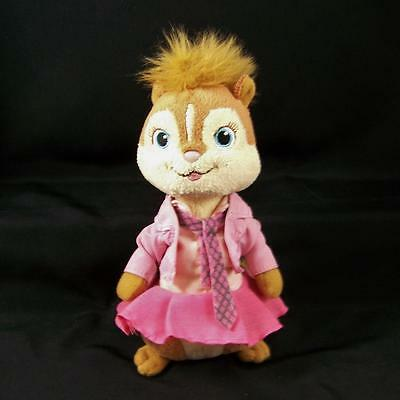 """Ty Beanie Baby Plush Brittany from Alvin and the Chipmunks 6"""" Chipette Girl Pink"""