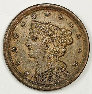 1853 Half Cent.  Red Brown UNC.  99137