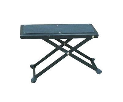 Pyle USA Adjustable Folding Portable Guitar Practice Foot Pedal Stand Rest Stool