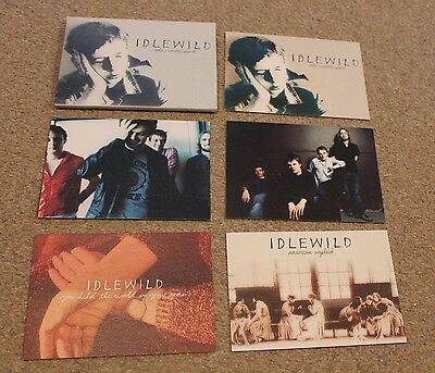 IDLEWILD 'The Remote Part' Limited Edition POSTCARD SET of 5 indie RARE