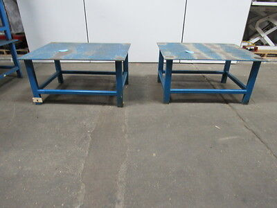 "48"" x 36"" x 24"" Industrial Steel Assembly Shipping Welding Packing Table Lot/2"