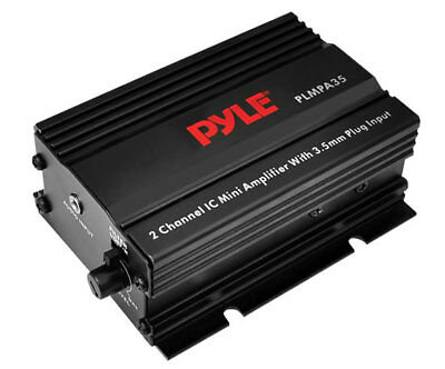 Pyle PLMPA35 2 Channel 300w Mini 12v Stereo Amplifier Smartphone Mobile Phone