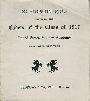 1917 Program - United States Military Academy at West Point Exhibition Ride
