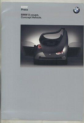 2001 BMW X Coupe Concept ORIGINAL Factory Press Kit Brochure ww4703