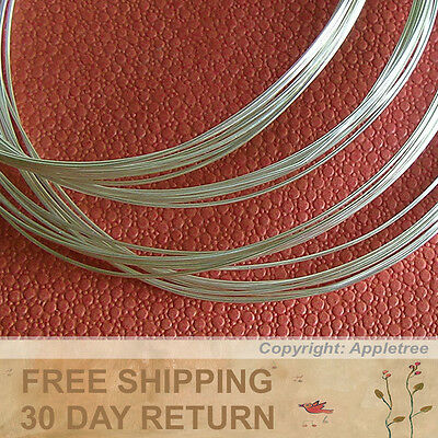 100FT Solid Sterling Silver Wire 24ga Round 24 gauge - Half Hard-Top Quality