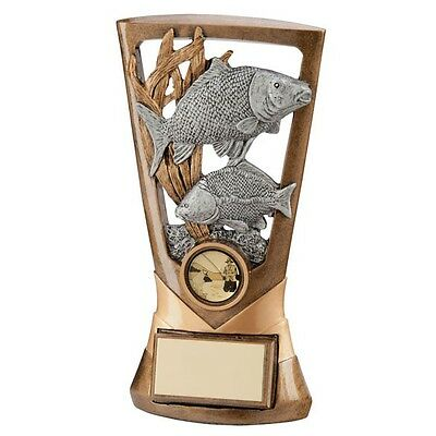 "Personalised 7"" Carp Angling Fishing Shield, Trophy, Award ,Any Text Engraved"