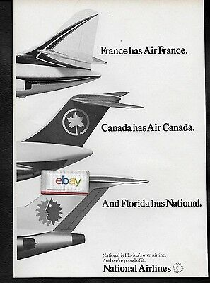National Airlines France Has Air France & Florida Has National1969 727 Ad