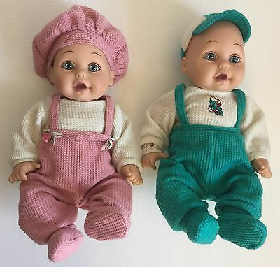 """Playmates Baby So Beautiful Dolls Twins Girl and Boy 12"""""""