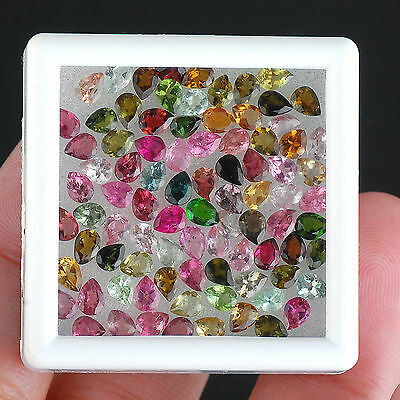 15.58 Cts/87 Pcs [Certified Lot] Natural Tourmaline Multi Color Untreated Gems