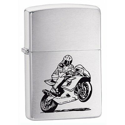 Zippo Motorcycle Lighter Brushed Chrome Brand New