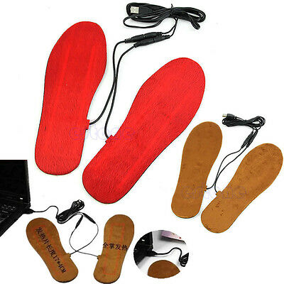USB Electric Powered Heated Winter Insoles For Shoes Boots Keep Feet Warm New V