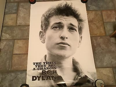 Bob Dylan The Times They Are A Changin' Poster 24 X 35 Black And White 2002