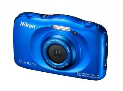 Nikon Coolpix W100 Waterproof Camera  -  Blue  -  VQA011AA