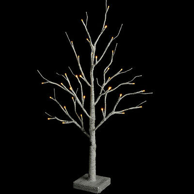 "Raz Imports 24"" Lighted Faux Birch Tree with LED Lights Timer Christmas Holiday"