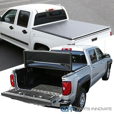 For 05-14 Toyota Tacoma Double Cab 5' Short Bed Black Trifold Tonneau Cover