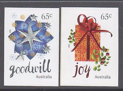 Australia 2016 Christmas  Mint unhinged pair s a Embellished stamps star gift