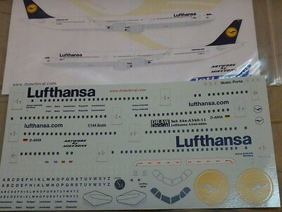*************Draw 1:144 scale Decal LUFTHANSA Airbus A340-600's