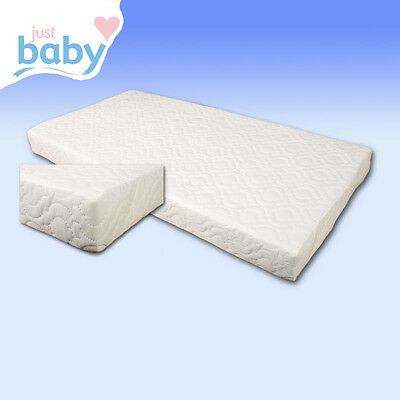 Baby Quilted Cot & Junior Bed Cotbed Mattresses Fully Breathable with Zip Cover