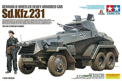 Tamiya 37024 1/35 Model Kit WWII German 6-Wheeled Heavy Armored Car Sd.Kfz.231