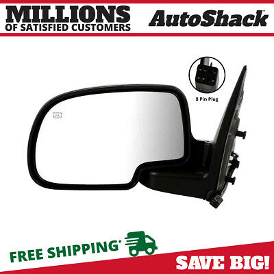 Power Heated Folding Puddle Left Side Mirror Fits 03-07 Chevrolet Silverado 1500