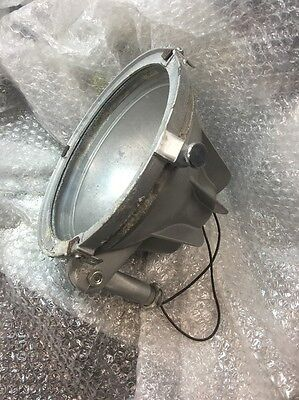 vintage Hubbell S400 industrial Metal shade Factory light very old steam punk #2