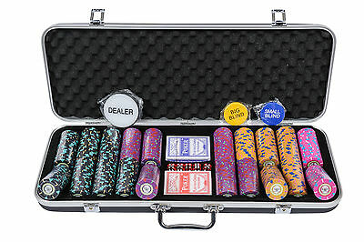 Pearl River Poker Chips Set - 14g 500 Piece Numbered Poker Set (£20 Off!)
