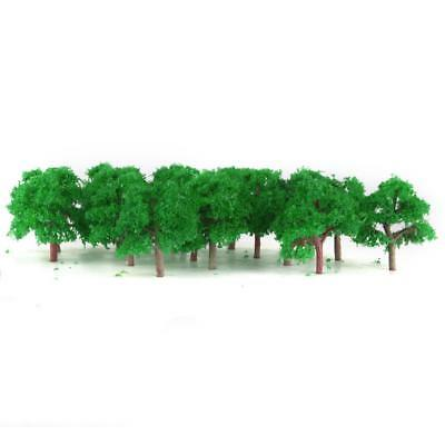 25pcs Model Jade Green Trees Layout Train Railway Park Diorama 1:300 Scale