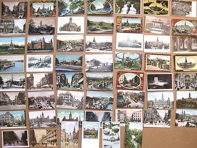 GLASGOW Job Lot of 54x Old Postcards, Mostly 1900-20s