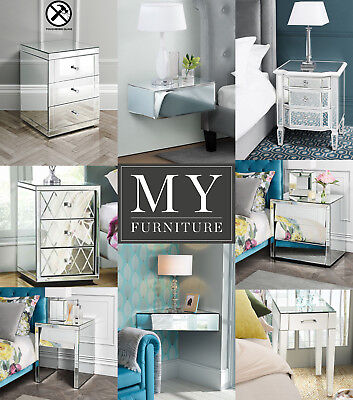 MY-Furniture - Mirrored bedside tables