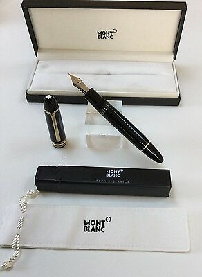 Montblanc Meisterstuck 149 Fountain Pen With Box And Warranty 18K Extra Fine Nib