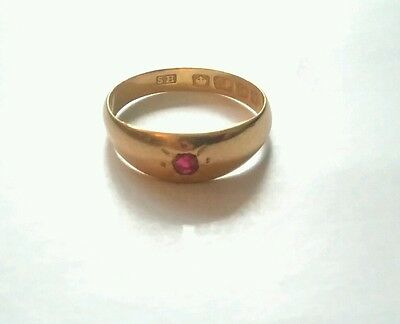 Antique 22ct gold ruby ring.