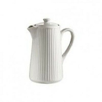 New Pillivuyt Plisse 55cl Coffee Pot White Porcelain  Restaurants Home Dining