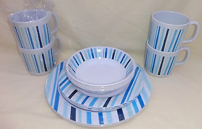 "16 Piece Melamine Dinner Set By  Hi Gear "" Boxed """
